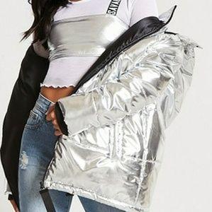 Silver Puffy Jacket